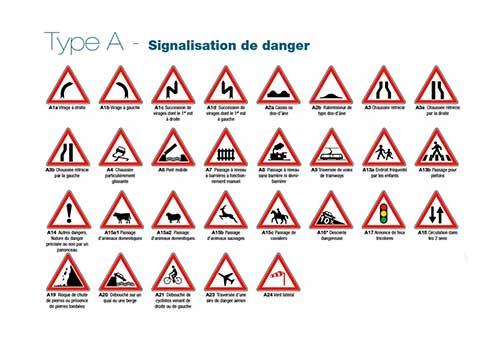 Panneau Permanent Type A Signalisation de danger