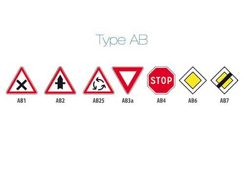 Panneau Permanent Type AB signaux intersection et priorite Panoloc