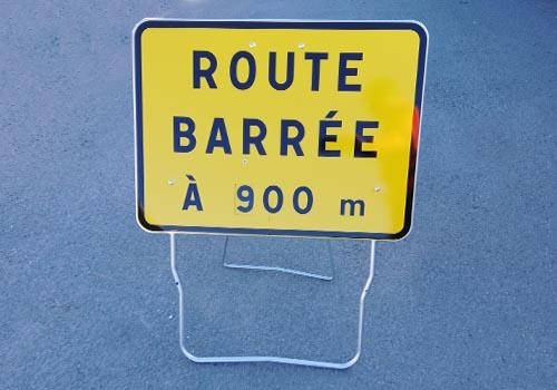 Route barrée à disque KC1-RB Panneau signalisation temporaire Pano