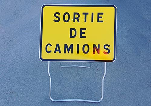 Sortie de camions KC1-SC Panoloc Signalisation temporaire a Lille Calais Douai Arras