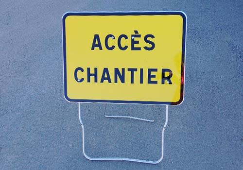 Acces Chantier Panneau temporaire Panoloc