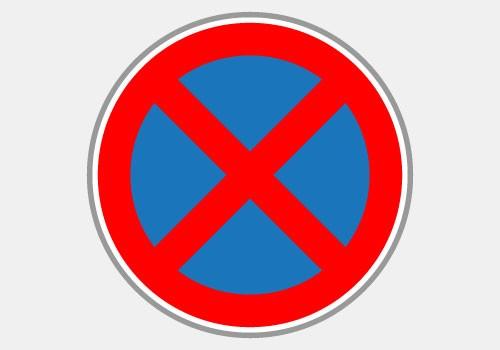 Arrêt et stationnement interdits BK6d Panneau de signalisation de chantier Panoloc