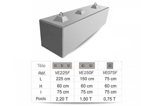 Bloc de beton empilable et modulable Panoloc Lens Arras