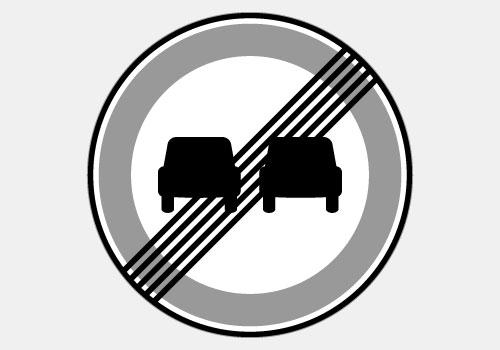 Fin d'interdiction de dépasser BK34 Panoloc Lille signalisation pour chantier