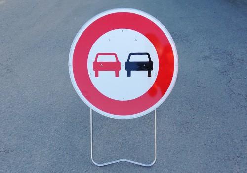 Interdiction de dépasser BK3 Panneau de signalisation temporaire Panoloc