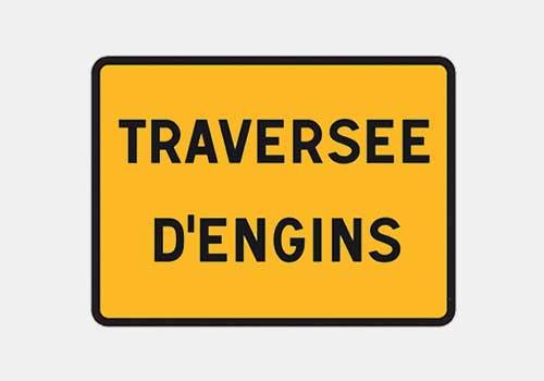 Traversee engins Panoloc Lille Location panneau de signalisation temporaire