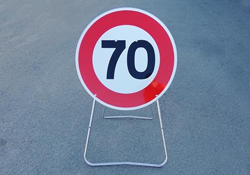 Vitesse limitee a 70km heure Panneau rond Panoloc Lille