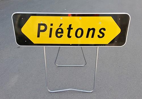 panneau signalisation pietons FP panoloc lens