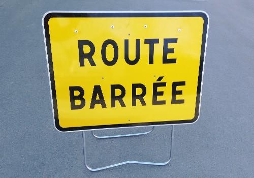 panneau signalisation temporaire route barrée KC1-21P panoloc wambrechies