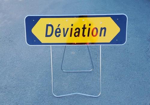panneau temporaire déviation KD22a Panoloc location vente panneau de signalisation lens