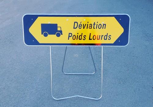 panneau temporaire deviation poids lourds panoloc lille